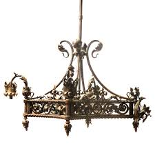 Antique Iron Chandeliers French Chandeliers Otbsiu Com