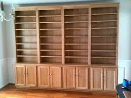 custom bookcases custommade i like how these have cabinets below