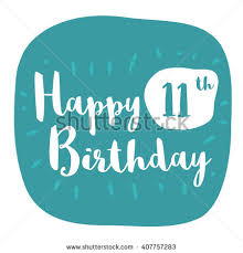11th birthday stock images royalty free images vectors