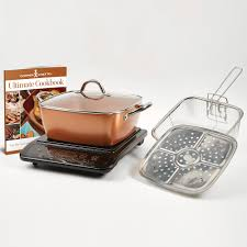 What Cookware Can Be Used On Induction Cooktop Chef Xl 5 Pc Casserole Pan Set With Induction Cooktop As Seen On Tv