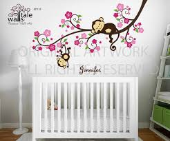 Monkey Decorations For Nursery Monkey Nursery Blossom Tree Branch Wall Decal With
