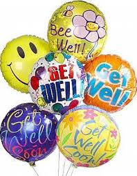 get well soon and balloons send get well soon balloons to dubai by flowers dubai