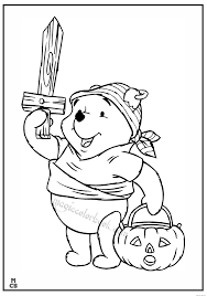 winnie the pooh halloween background witch magic coloring pages book