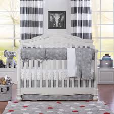 All White Crib Bedding Tribal Elephant Bumperless Crib Bedding Liz And Roo