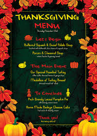 26 images of thanksgiving menu flyer template infovia net