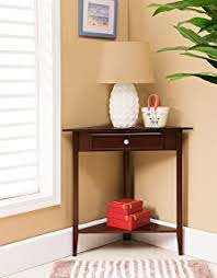 Accent Table With Drawer Amazon Com Leick Corner Accent Table Kitchen U0026 Dining