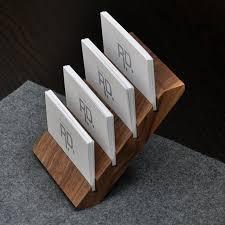 Desk Card Holders For Business Cards 8 Best Wood Stands Images On Pinterest Business Cards Business
