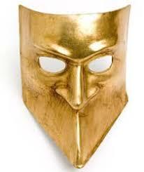 bauta mask gold bauta
