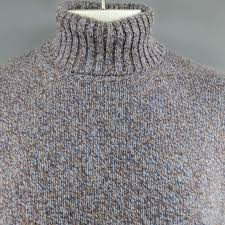 men u0027s loro piana size xl blue and brown heather blend cashmere