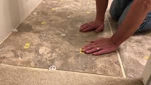 Vinyl Tile Installation Luxury Vinyl Tile Installation Step 4 Lay The Tiles Youtube