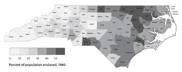 Map Of The Carolinas Usa by Distribution Of Land And Slaves North Carolina Digital History