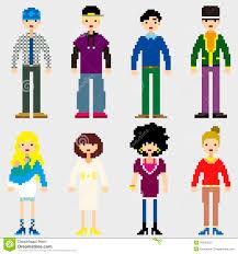 halloween pixel art pattern stock vector image 47048196