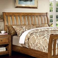 country style beds conrad country style rustic oak finish cal king size bed frame set