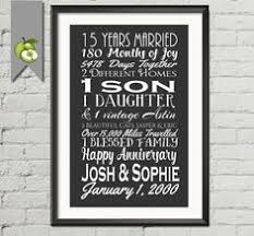 15th anniversary gifts 15 year anniversary present fifteen year wedding anniversary gift