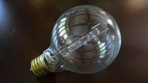 ge 60watt g25 halogen clear globe light bulb youtube
