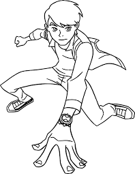 ben 10 alien force coming coloring wecoloringpage