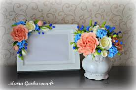 Flowers Home Decoration by Beautiful Photo Frame With Handmade Flowers Home Decoration