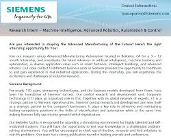 research intern siemens position research intern machine intelligence advanced