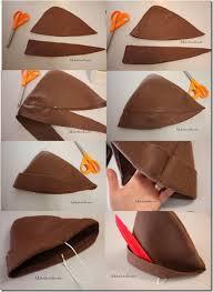 como hacer un sombrero de robin hood en fieltro sombrero peter pan pinteres