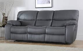 3 seater recliner sofa excellent beaumont grey leather recliner sofa 3 seater only 64999