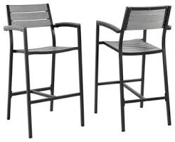 out door bar stools modern urban contemporary bar stool outdoor patio set of 2 brown