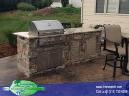 outdoor island kitchen outdoor kitchens pools wichita ks treescapes