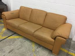 Tan Leather Natuzzi  Seater Sofa RRP  Aherns Furniture - Leather 3 seat sofa