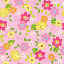 spring floral seamless repeat pattern vector illustration stock