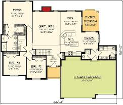 ranch floor plans with 3 car garage luxurius ranch house plans with basement 3 car garage r33 on