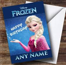 frozen princess elsa personalised birthday card the card zoo