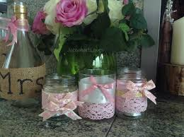 bows for wine bottles wedding inspiration candle holders made from jam jars