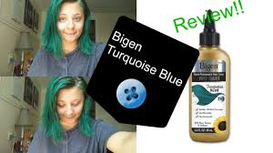 Cvs Semi Permanent Hair Color Turquoise Blue Bigen Vivid Shades Hair Dye Review Youtube