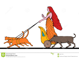 freya norse goddess chariot cat stock images image 12611734