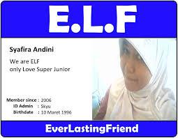 membuat id card suju super junior with elf id card