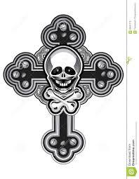 cross tatoo steampunk style cross tattoo design stock illustration image