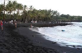 black sand beach big island black red green hawaii beaches aren t just golden the seattle times