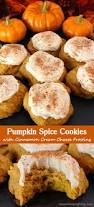 pumpkin spice cookies with cinnamon cream cheese frosting recipe