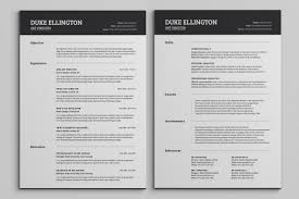 Best Google Resume Templates by Resume Two Pages Resume For Your Job Application