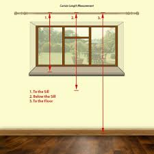 Width Of Curtains For Windows Window Curtains Inspirating Of How To Measure For Curtains Step