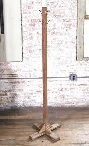 wooden standing coat rack vintage solid wood hat stand or coat