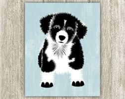 puppy print etsy