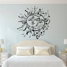 wall designs for bedroom sun and moon decals with regard to