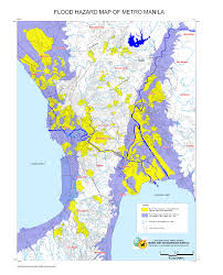 Map Of Phillipines Philippines Flood Hazard Map Of Metro Manila Maps Knowledge