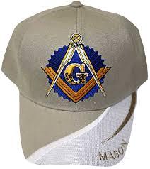 Masonic Home Decor Tan And White Masonic Baseball Cap Master Mason Logo Hat For
