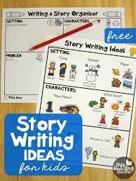story writing ideas kids free printables homeschool
