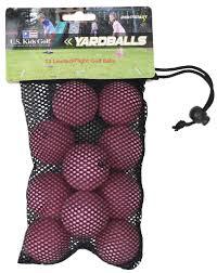 us kids pink yard balls dozen discount prices for golf equipment