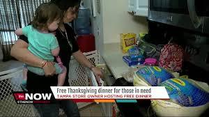 ta business owner preparing thanksgiving dinner for less
