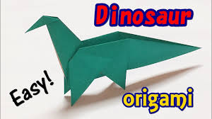 how to make an easy origami dinosaur paper dinosaur easy but