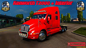 2016 kenworth t2000 kenworth t2000 interior v1 0 for ets 2 zagruzka mods com