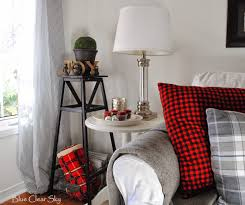 rustic maple our 2014 christmas living room lots of cozy fleece wool and suede sherpa throws for snuggling on cool winter nights more mercury glass and ironstone with red votive candles